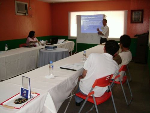 Heats lecturer as he explains Welding Process