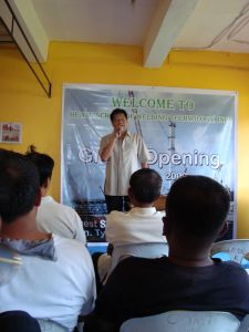 Hon. Tyrone Aganon - Board Member of Tarlac Province delivering his speech during the Grand Opening of Heats School of Welding Technology, Inc.