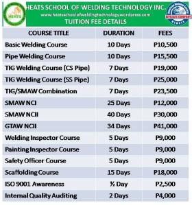 Heats Courses and Fees1