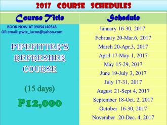 Course Schedule | Heats School of Welding Technology Inc