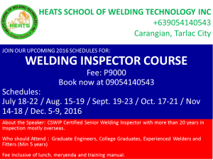 HEATS SCHOOL OF WELDING TECHNOLOGY INC WI ADS