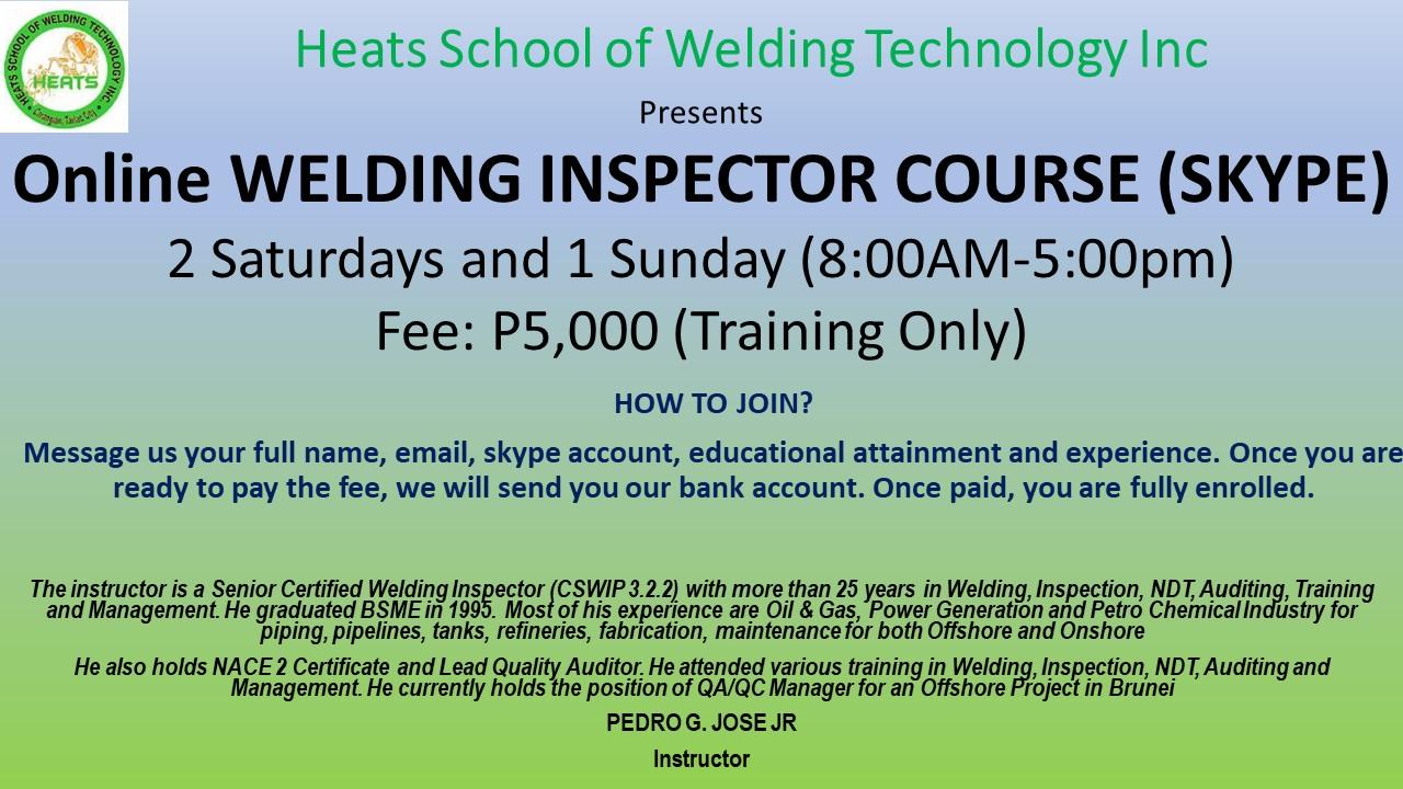 Online Welding Inspector Course